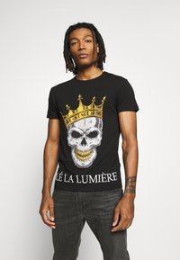 Volé la lumière - RHINESTONE KING SKULL - Print T-shirt - black - 0