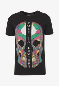 Volé la lumière - RHINESTONE SKULL - T-shirt print - black - 4