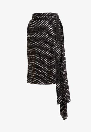 BLANKET SKIRT - A-snit nederdel/ A-formede nederdele - black/white