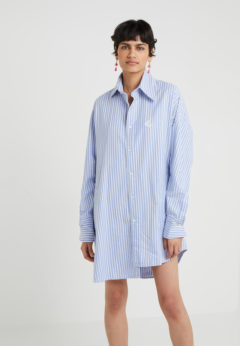 Vivienne Westwood Anglomania - CHAOS DRESS - Shirt dress - blue