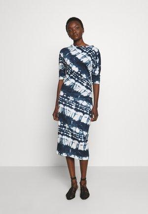 THIGH DRESS - Jerseykjoler - dark blue