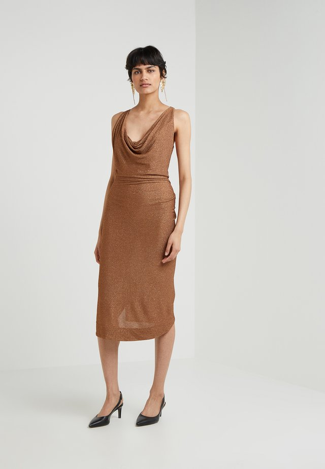 VIRGINIA DRESS - Juhlamekko - copper