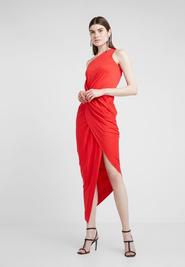 ONE SHOULDER VIAN DRESS - Maxiklänning - red