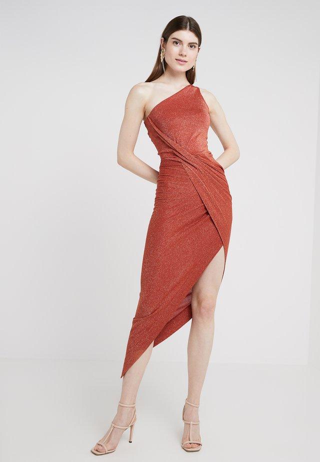 ONE SHOULDER VIAN DRESS - Iltapuku - rust