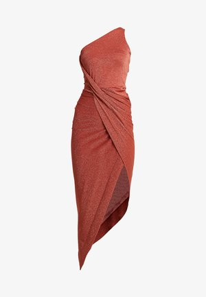 ONE SHOULDER VIAN DRESS - Vestido de fiesta - rust