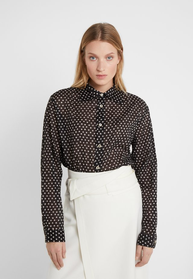 CRINI SHIRT - Button-down blouse - black/white