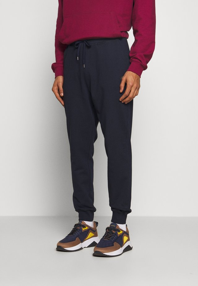 CLASSIC TRACKSUIT BOTTOMS TIME TO ACT - Tracksuit bottoms - royal blue