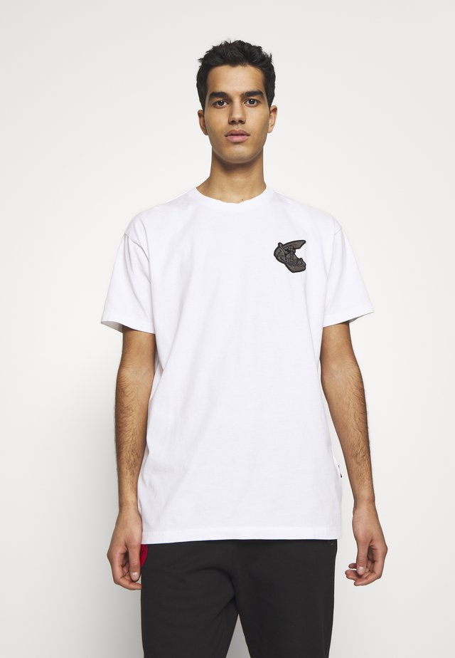 NEW BOXY BADGE - T-shirt med print - white