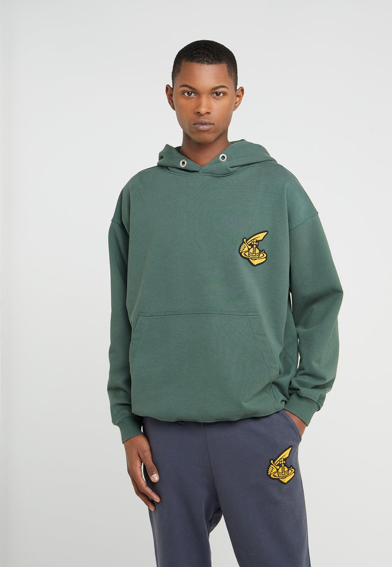 Vivienne Westwood Anglomania - HOODED - Jersey con capucha - green