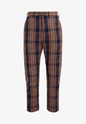LONG JAMES BOND TROUSERS - Spodnie materiałowe - navy tartan