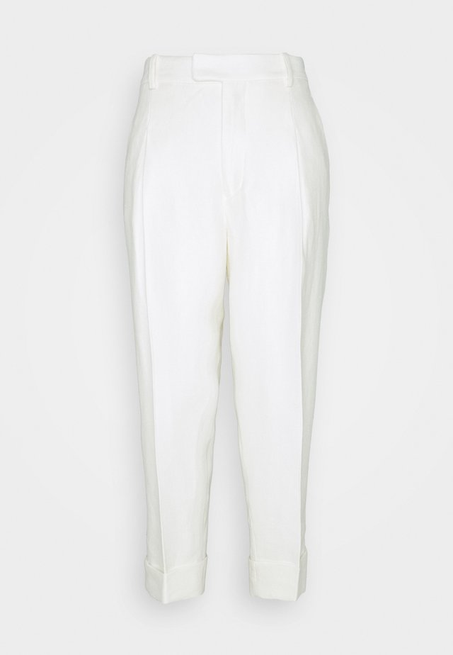 DAVE TROUSERS - Tygbyxor - white