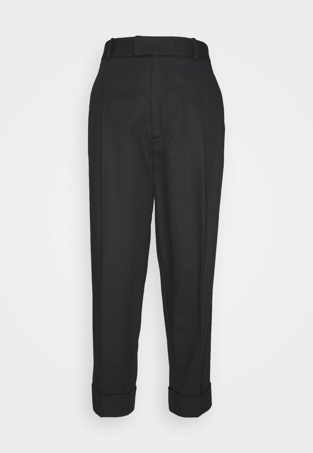 DAVE TROUSERS - Tygbyxor - black