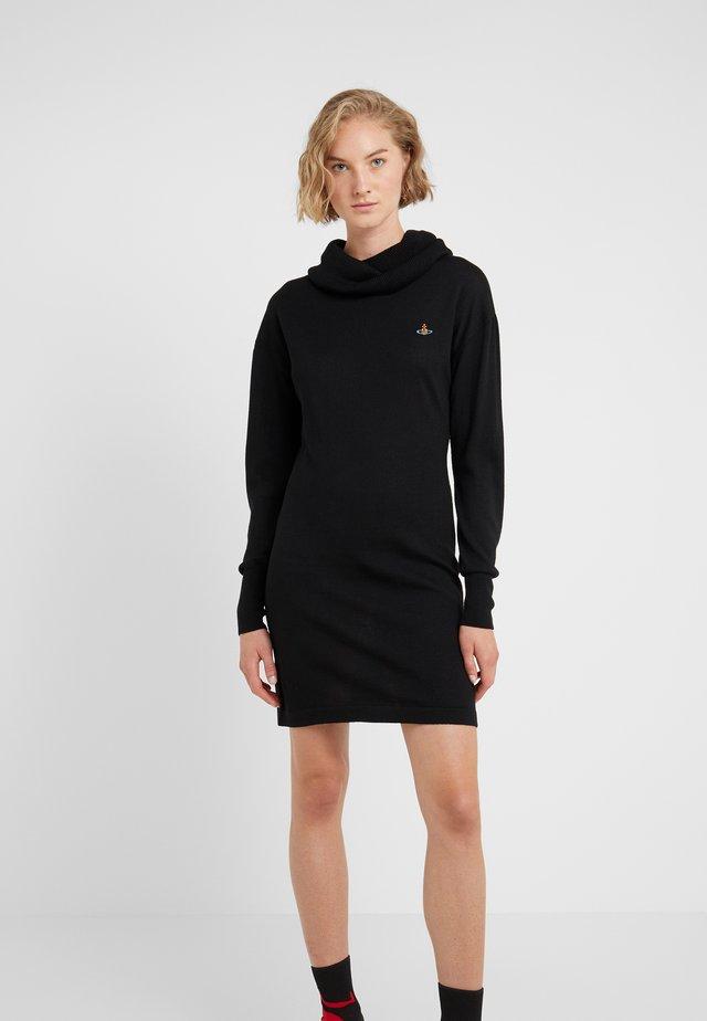 TURTLE DRESS - Stickad klänning - black