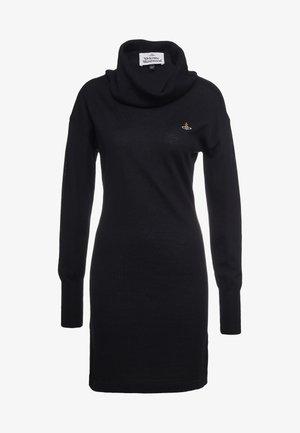 TURTLE DRESS - Vestido de punto - black
