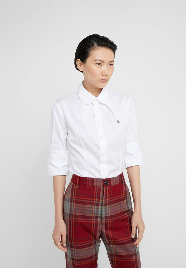 SHORT SLEEVE TOULOUS - Bluse - white