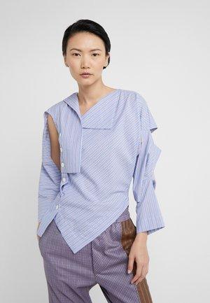 BROKEN MIRROR TOP - Button-down blouse - azure