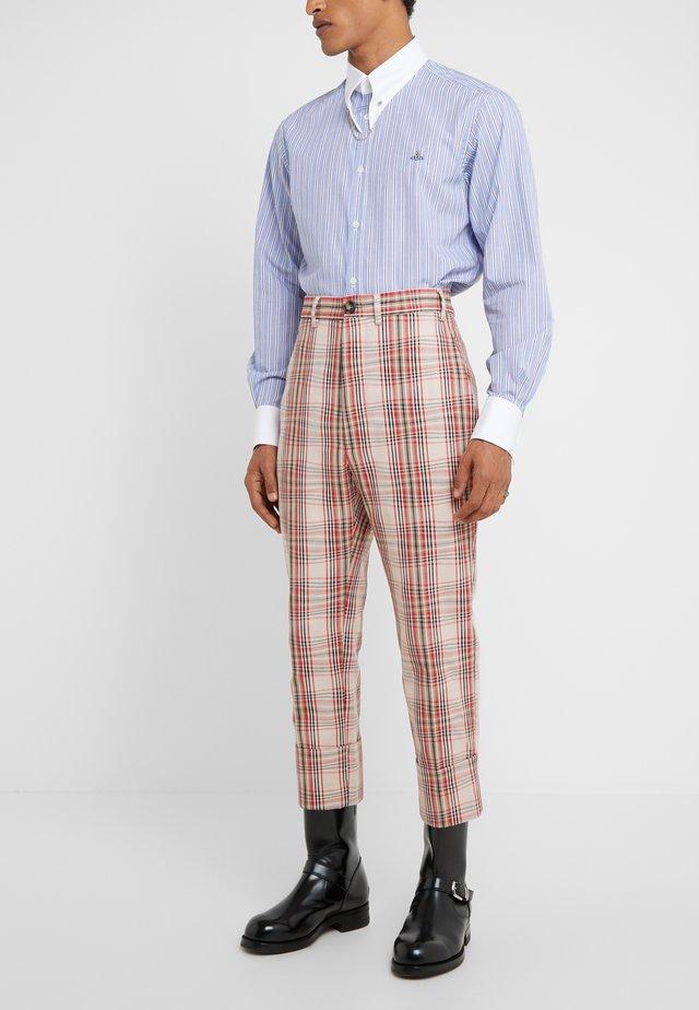 CROPPED GEORGE DRUNKEN  - Spodnie materiałowe - beige tartan