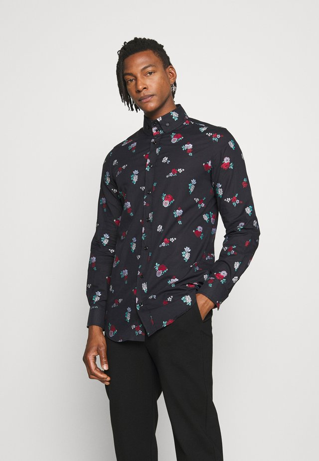 KRALL BOUQUET COUPE - Shirt - black