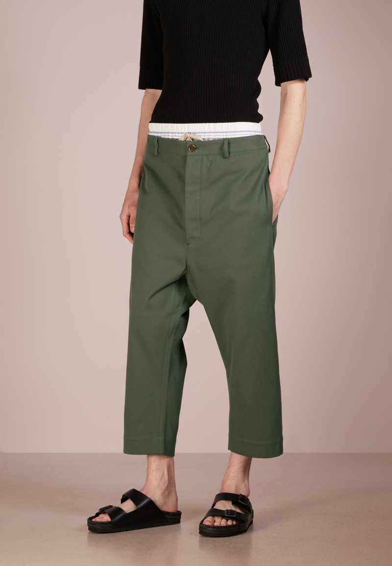 Vivienne Westwood - PANTS - Trousers - dark green