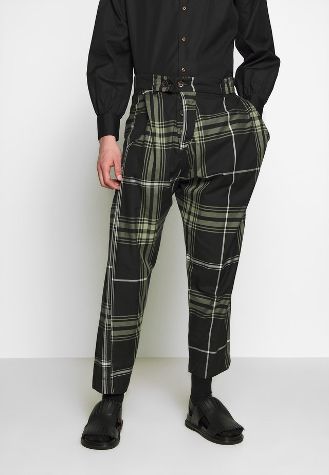 ALCOHOLIC TROUSERS - Stoffhose - black