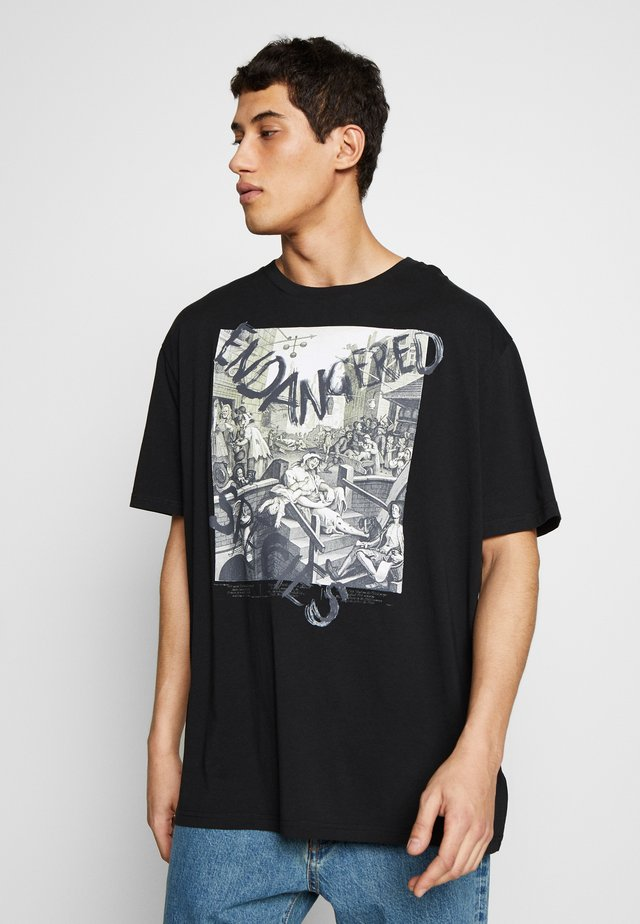 OVERSIZED CLASSIC - Print T-shirt - black