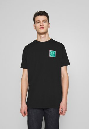 NEW BOXY CLIMATE PATCH - Print T-shirt - black