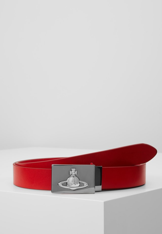 BELTS SQUARE BUCKLE - Gürtel - red