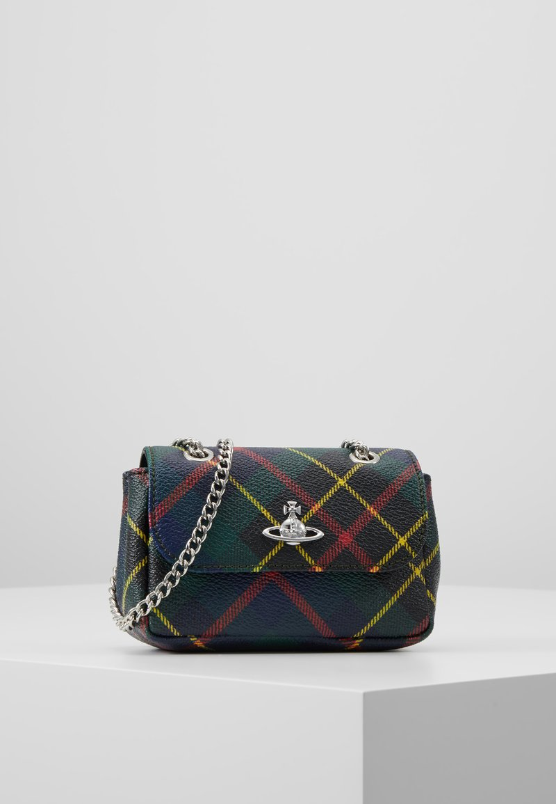 Vivienne Westwood - DERBY SMALL PURSE WITH CHAIN - Torba na ramię - hunting