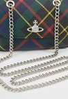 Vivienne Westwood - DERBY SMALL PURSE WITH CHAIN - Axelremsväska - hunting