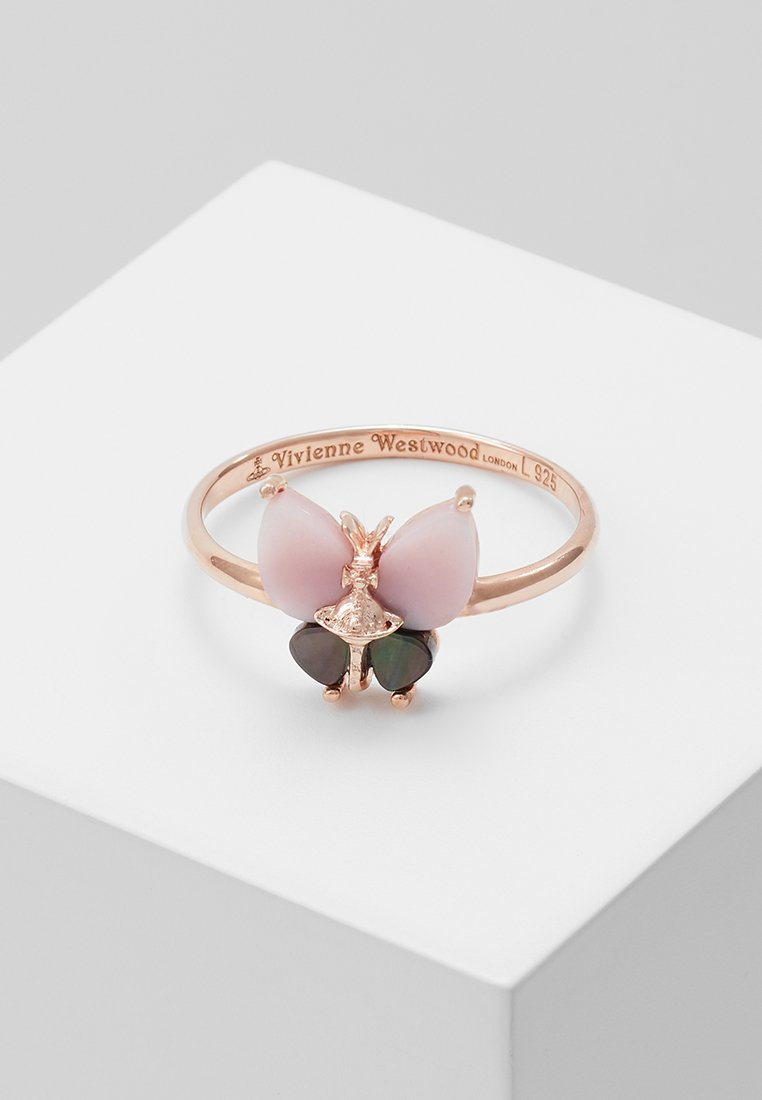 Vivienne Westwood - BUTTERFLY RING - Ring - pink mop/grey