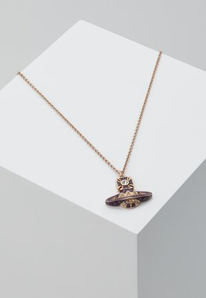 ARETHA RELIEF SMALL PENDANT - Necklace - pink gold-coloured
