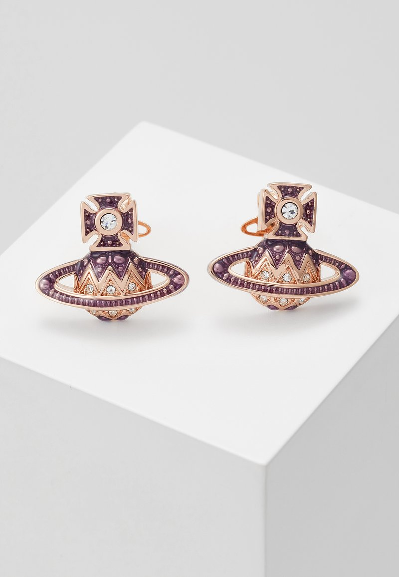 Vivienne Westwood - ARETHA RELIEF EARRINGS - Náušnice - pink gold-coloured