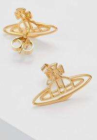 Vivienne Westwood - THIN LINES FLAT ORB STUD EARRINGS - Náušnice - gold-coloured - 2