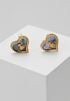 PETRA EARRINGS - Pendientes - yellow gold-coloured