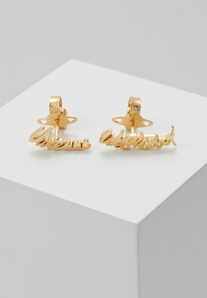 EARRINGS - Pendientes - gold-coloured