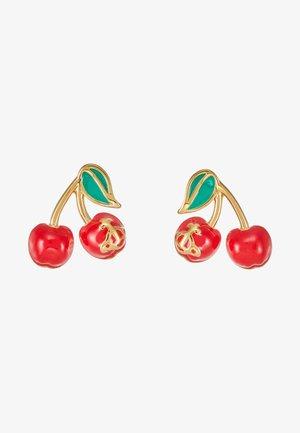 MISTY EARRINGS - Ohrringe - red/green/gold-coloured