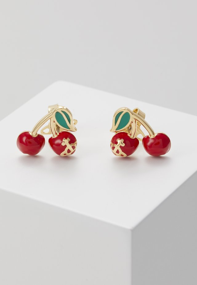 MISTY EARRINGS - Örhänge - red/green/gold-coloured