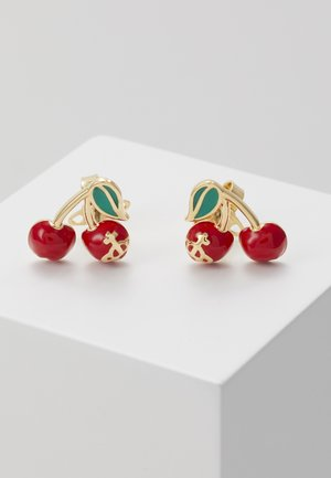 MISTY EARRINGS - Pendientes - red/green/gold-coloured