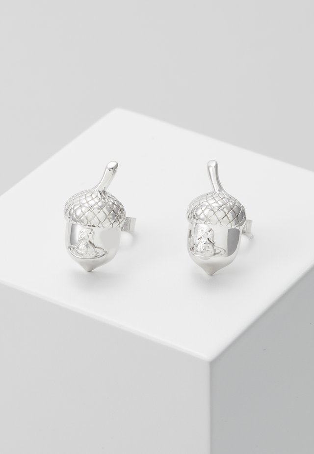 ACORN EARRINGS - Ohrringe - silver-coloured
