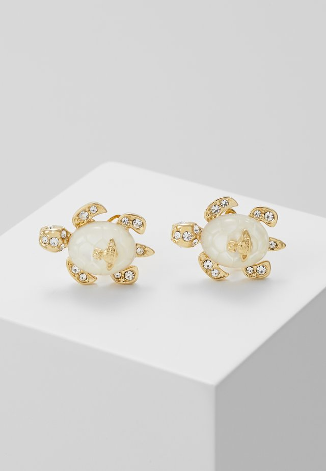 TURTLE EARRINGS - Náušnice - white/gold-coloured