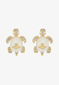 Vivienne Westwood - TURTLE EARRINGS - Náušnice - white/gold-coloured - 3