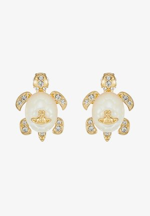 TURTLE EARRINGS - Orecchini - white/gold-coloured