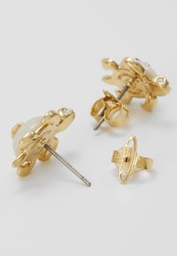 Vivienne Westwood - TURTLE EARRINGS - Náušnice - white/gold-coloured - 2