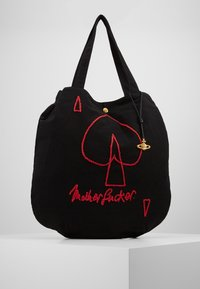 Vivienne Westwood - ROUND SHOPPER - Shopping bags - black - 0