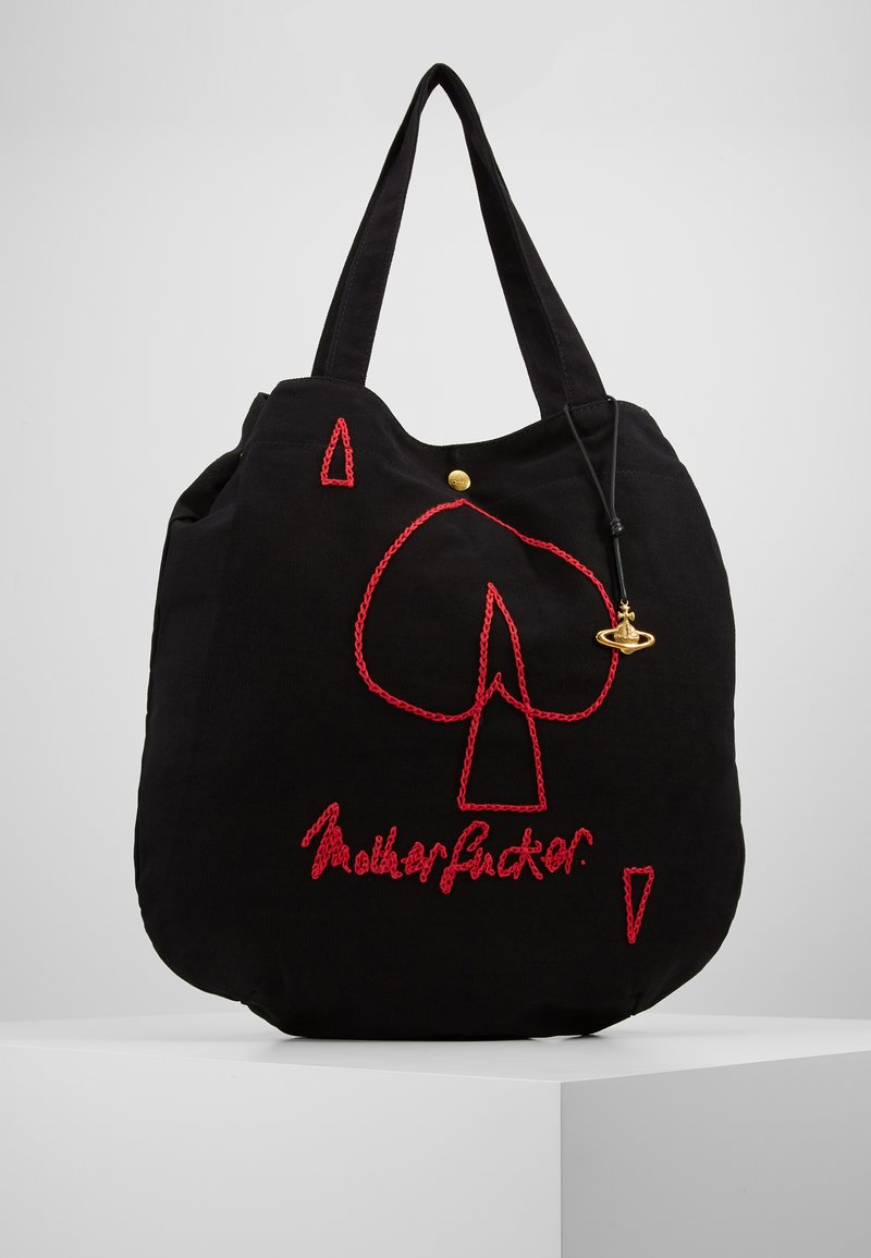 Vivienne Westwood - ROUND SHOPPER - Shopping bags - black