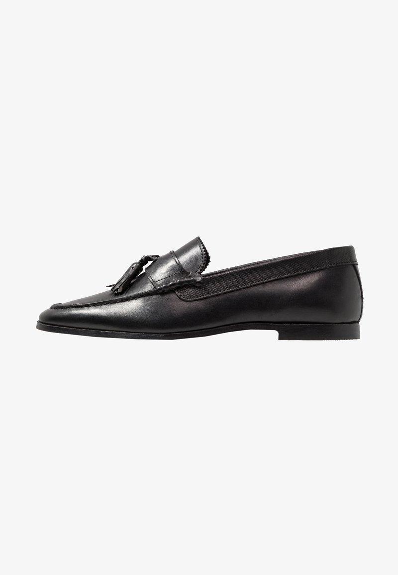 Walk London - RAPHAEL TASSEL LOAFER - Scarpe senza lacci - black
