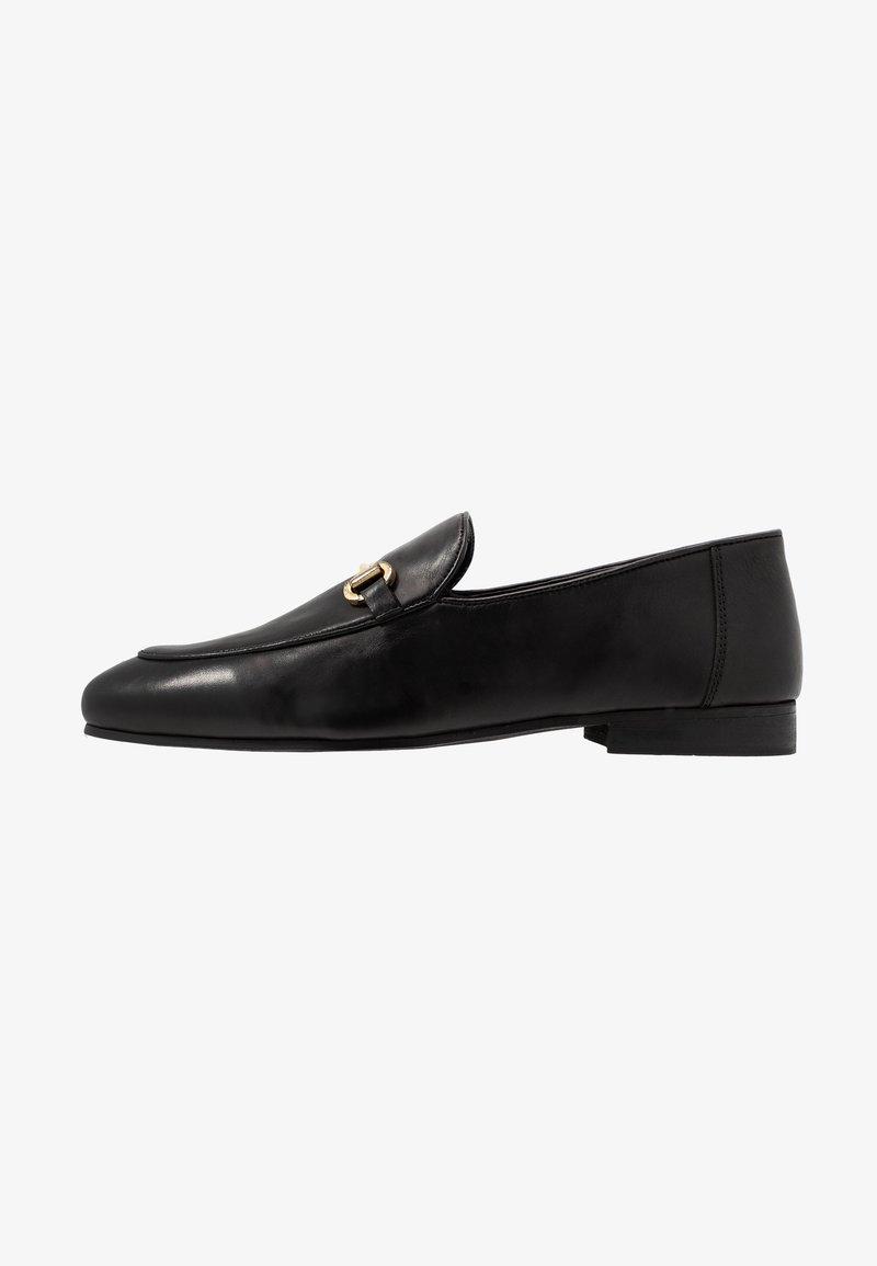 Walk London - JACOB WEAVE LOAFER - Elegantní nazouvací boty - black