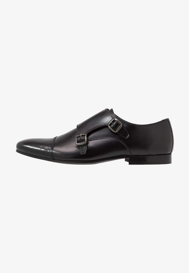 HENDRIX MONK - Smart slip-ons - smooth black