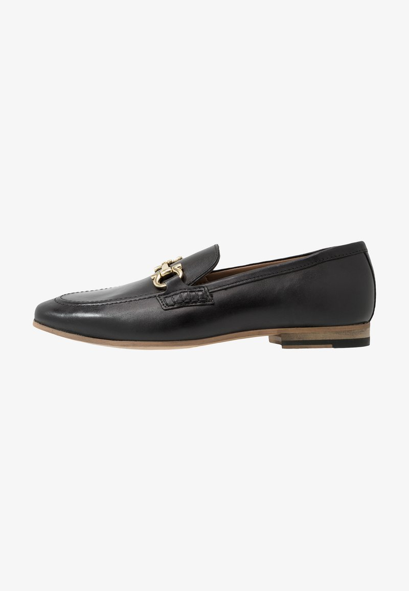 Walk London - GLOVER TRIM - Smart slip-ons - black
