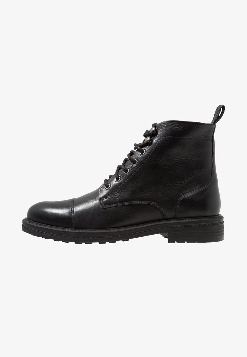 Walk London - WOLF TOE CAP - Lace-up ankle boots - black